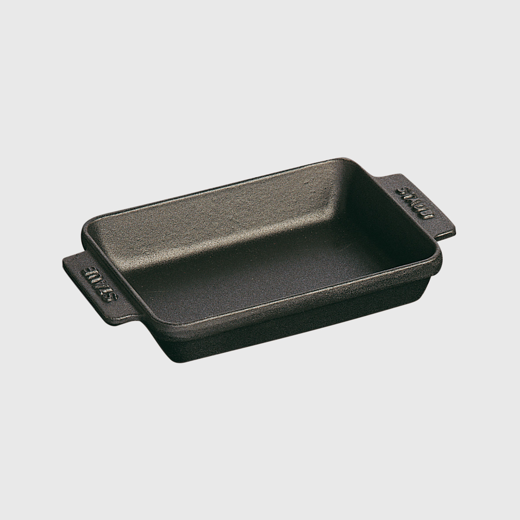 "Staub Cast Iron 5.75"" x 4 .5"" Mini Rectangular Baker - Matte Black"